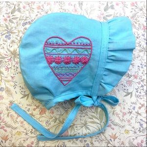 Other - Handmade embroidered bonnet